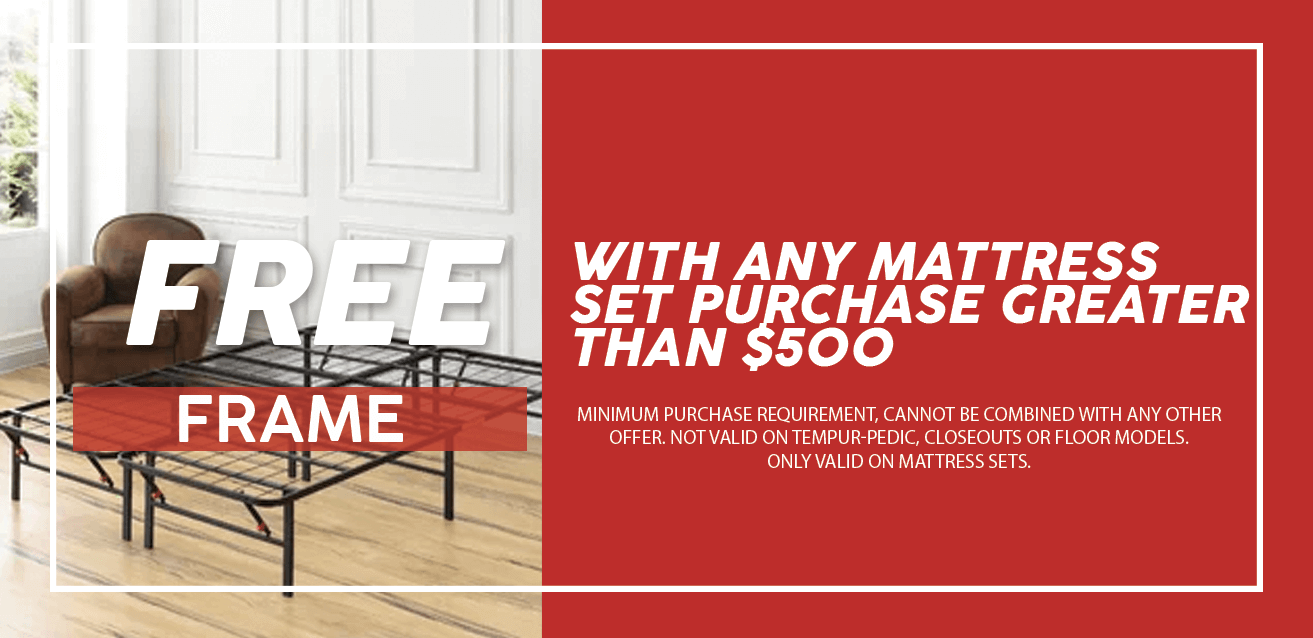 Free Frame with Any Mattress Set